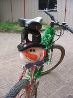 Mountain Bike Snowman