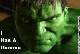 Eric Bana (Hulk) has a Gamma