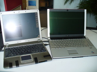 two laptops, new and old