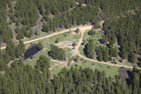 aerial campsite photo before the race