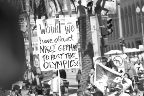 nazi olympics protest